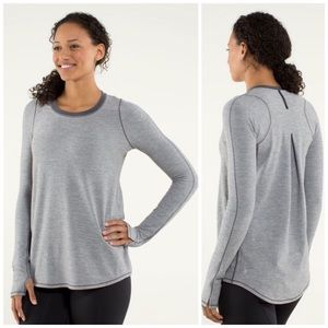 Lululemon Tuck and Flow Long Sleeve in Gray [Rare]
